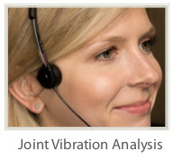 TMJ therapy using joint vibration analysis