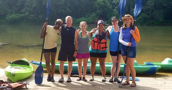 US champion kayaker teaches dental team