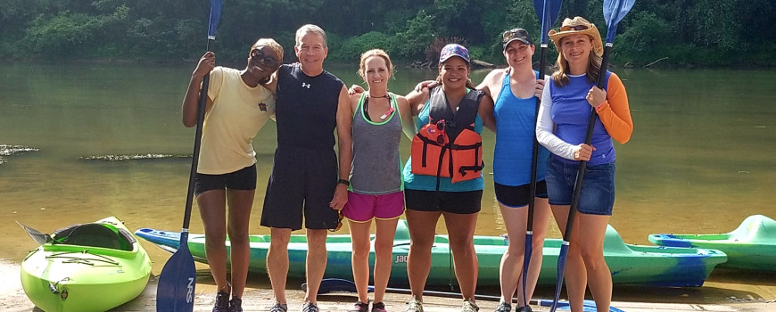 US champion kayaker teaches dental team